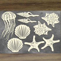 Chipboard – Sea Shells