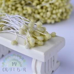 Micro-beads stamen 5 mm - CREAM