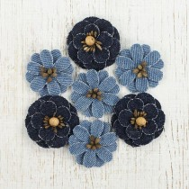 Denim Flowers - DOMINICA 6pcs