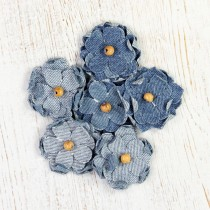 Denim Flowers - BLOOMS 6pcs