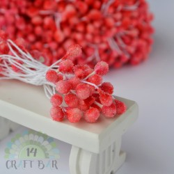 Micro-beads stamen 5 mm-CORAL