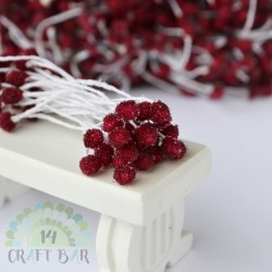 Micro-beads stamen 5 mm -RED