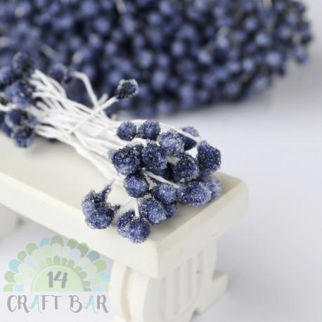 Micro-beads stamen 5 mm-DARK BLUE