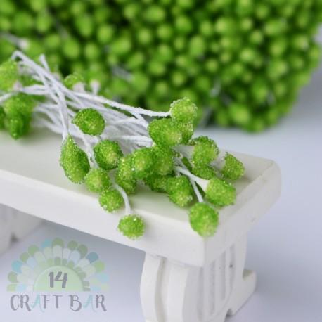 Micro-beads stamen 5 mm-GREEN