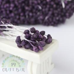Micro-beads stamen 5 mm-PURPLE