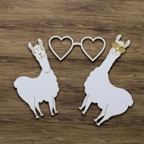 Chipboard -  Happy Llamas 3pcs