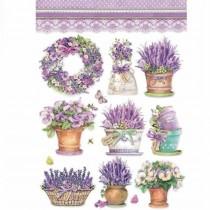 A4 Rice Paper - Lavender vase