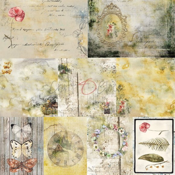 Scrapbooking Papers - A SHEET OF EXTRAS TO CUT - Summer Charm 1