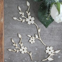 Chipboard - Floral elements...