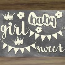 Chipboard - SWEET BABY GIRL 2