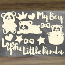 Chipboard - MY LITTLE PANDA...