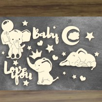 Chipboard - MY LITTLE BABY...