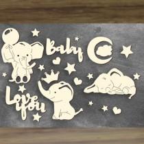 Chipboard - MY LITTLE BABY BOY