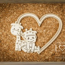 Chipboard -  Layered heart...