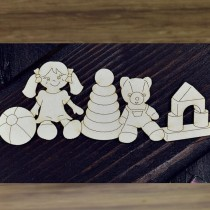 Chipboard - Layered Toys -...