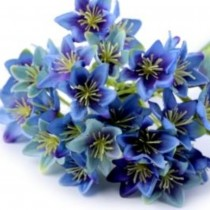Small Artificial Flower - BLUE