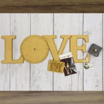 MDF - Clock – LOVE – Base