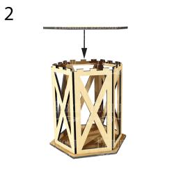 MDF - Rectangular Lantern/3D