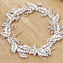 Chipboard - big wreath...
