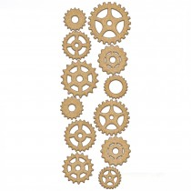 MDF - Set of gears 12pcs