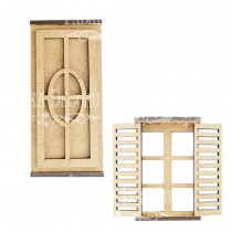 MDF - Window with shutters 3D