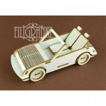 Chipboard - CABRIOLET CAR 3D
