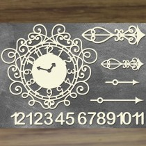 Chipboard - Clock with numbers