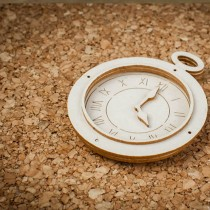 Chipboard - Vintage Clock 3D
