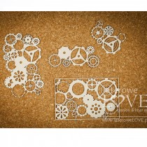 Chipboard  - Set of gears...