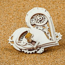 Chipboard - Steampunk heart 3D