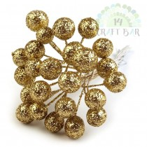 Wire Bead - GOLD - bunch 12pcs