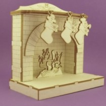 Chipboard - Fireplace 3D
