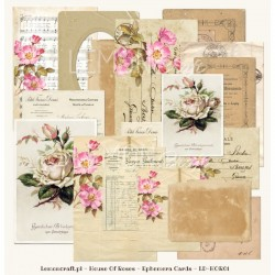 Ephemera cards-House of Roses