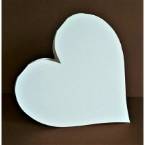Blank Card - HEART white or...