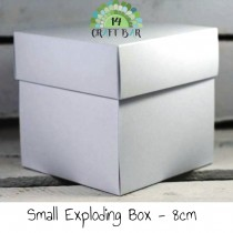 Exploding box small - WHITE