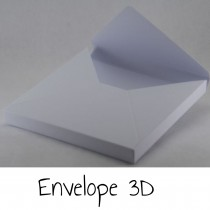 Envelope 3D - WHITE or KRAFT
