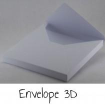 Envelope 3D - WHITE or KRAFT