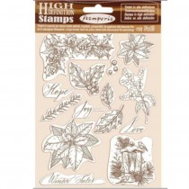 Rubber Stamp - Poinsettia -...