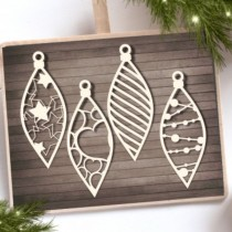 CHIPBOARD - Long Baubles 4pcs