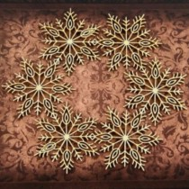 CHIPBOARD -  Snowflakes frame