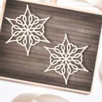 CHIPBOARD -  2 Snowflakes