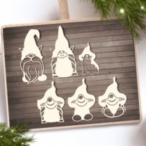 CHIPBOARD -  Christmas gnomes