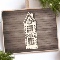 Chipboard - Christmas House 1