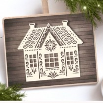 Chipboard - Christmas House 3