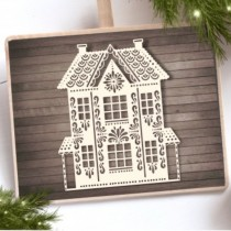Chipboard - Christmas House 4