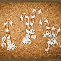 Chipboard - Candy Canes
