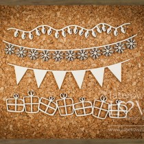Chipboard - Christmas chains