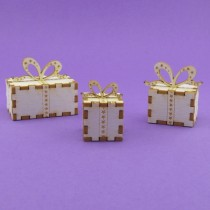 Chipboard - Gift boxes 3D
