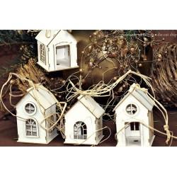 Chipboard 3D - Tenement houses /4 pcs