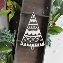 Chipboard - Christmas Tree 04